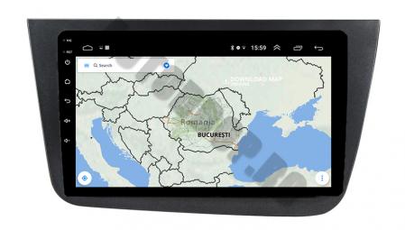 Navigatie Seat Altea/Toledo (2005-2012), QUADCORE|MTK| / 1GB RAM + 16GB ROM, 9 Inch - AD-BGPALTEA9MTK8
