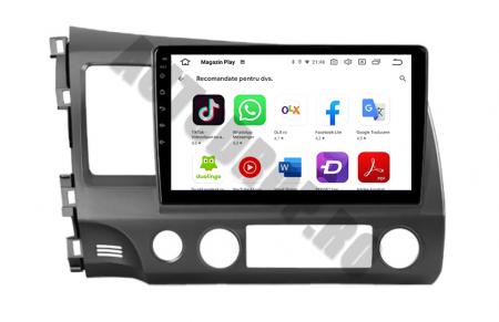 Navigatie Honda Civic (2005-2012), QUADCORE|MTK| / 2GB RAM + 32GB ROM, 9Inch - AD-BGPCIVIC9MTK2GB10