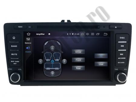 Navigatie Dedicata Skoda, Android 10, QUADCORE|PX30| / 2GB RAM + 16 ROM cu DVD, 7 Inch - AD-BGWSKODA7P37