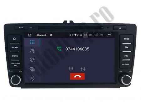 Navigatie Dedicata Skoda, Android 10, QUADCORE|PX30| / 2GB RAM + 16 ROM cu DVD, 7 Inch - AD-BGWSKODA7P36