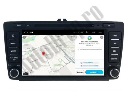 Navigatie Dedicata Skoda, Android 10, QUADCORE|PX30| / 2GB RAM + 16 ROM cu DVD, 7 Inch - AD-BGWSKODA7P312