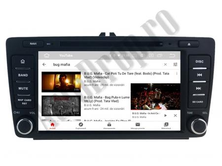 Navigatie Dedicata Skoda, Android 10, QUADCORE|PX30| / 2GB RAM + 16 ROM cu DVD, 7 Inch - AD-BGWSKODA7P39