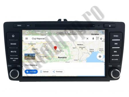 Navigatie Dedicata Skoda, Android 10, QUADCORE|PX30| / 2GB RAM + 16 ROM cu DVD, 7 Inch - AD-BGWSKODA7P311