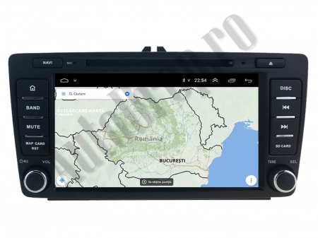 Navigatie Dedicata Skoda, Android 10, QUADCORE|PX30| / 2GB RAM + 16 ROM cu DVD, 7 Inch - AD-BGWSKODA7P313