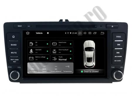 Navigatie Dedicata Skoda, Android 10, QUADCORE|PX30| / 2GB RAM + 16 ROM cu DVD, 7 Inch - AD-BGWSKODA7P33