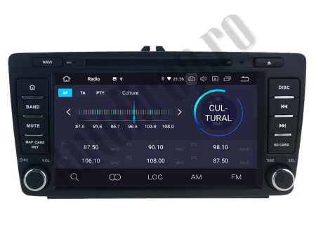 Navigatie Dedicata Skoda, Android 10, QUADCORE|PX30| / 2GB RAM + 16 ROM cu DVD, 7 Inch - AD-BGWSKODA7P31