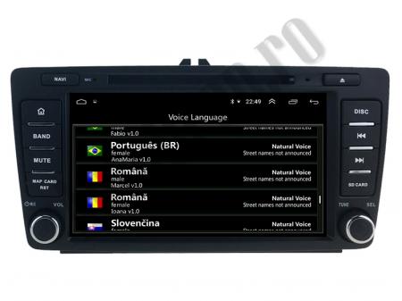 Navigatie Dedicata Skoda, Android 10, QUADCORE|PX30| / 2GB RAM + 16 ROM cu DVD, 7 Inch - AD-BGWSKODA7P310
