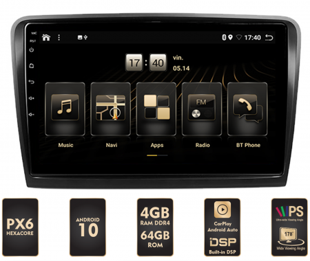 Navigatie Android 10 Skoda Superb 2 PX6 | AutoDrop.ro [0]