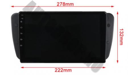 NAVIGATIE SEAT IBIZA (2009-2013), ANDROID 9.1, QUADCORE|MTK| / 2GB RAM + 32GB ROM, 9 INCH - AD-BGPIBIZA9MTK2GB18