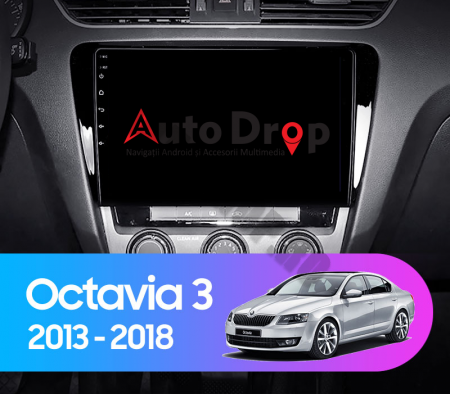NAVIGATIE SKODA OCTAVIA 3 (2013-2018), ANDROID 9.1, QUADCORE|MTK| / 2GB RAM + 32GB ROM, 10.1 INCH - AD-BGPOCTAVIA39MTK2GB21
