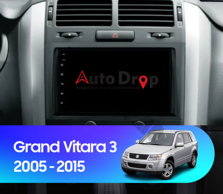 Navigatie Suzuki Grand Vitara 2004-2014, Android 9.1, QUADCORE|MTK| / 1GB RAM + 16 ROM, 7 Inch - AD-BGPSUZUKIGV2DIN17