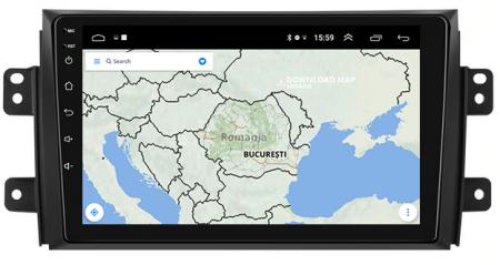 Navigatie Suzuki SX4 / Fiat Sedici, Android 9.1, QUADCORE|MTK| / 2GB RAM + 32 ROM, 9 Inch - AD-BGPSX49MTK2GB10