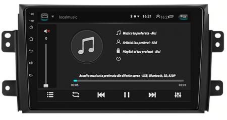 Navigatie Suzuki SX4 / Fiat Sedici, Android 9.1, QUADCORE|MTK| / 2GB RAM + 32 ROM, 9 Inch - AD-BGPSX49MTK2GB4