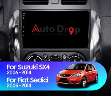 Navigatie Suzuki SX4 / Fiat Sedici, Android 9.1, QUADCORE|MTK| / 2GB RAM + 32 ROM, 9 Inch - AD-BGPSX49MTK2GB17