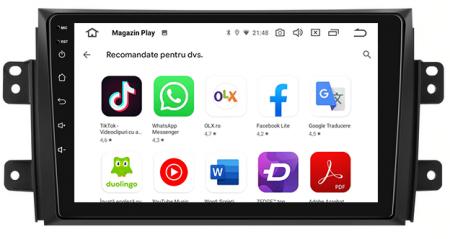 Navigatie Suzuki SX4 / Fiat Sedici, Android 9.1, QUADCORE|MTK| / 2GB RAM + 32 ROM, 9 Inch - AD-BGPSX49MTK2GB6