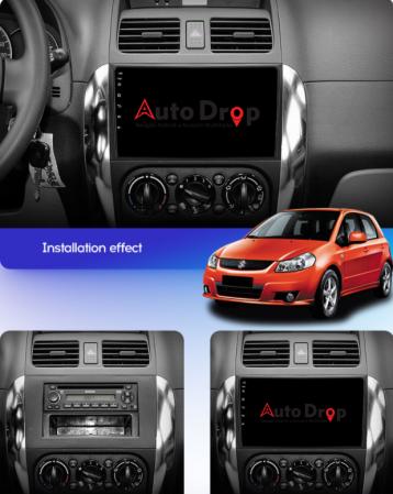 Navigatie Suzuki SX4 / Fiat Sedici, Android 9.1, QUADCORE|MTK| / 2GB RAM + 32 ROM, 9 Inch - AD-BGPSX49MTK2GB18