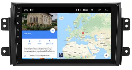 Navigatie Suzuki SX4 / Fiat Sedici, Android 9.1, QUADCORE|MTK| / 2GB RAM + 32 ROM, 9 Inch - AD-BGPSX49MTK2GB12