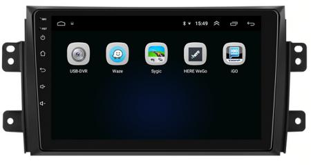 Navigatie Suzuki SX4 / Fiat Sedici, Android 9.1, QUADCORE|MTK| / 2GB RAM + 32 ROM, 9 Inch - AD-BGPSX49MTK2GB3