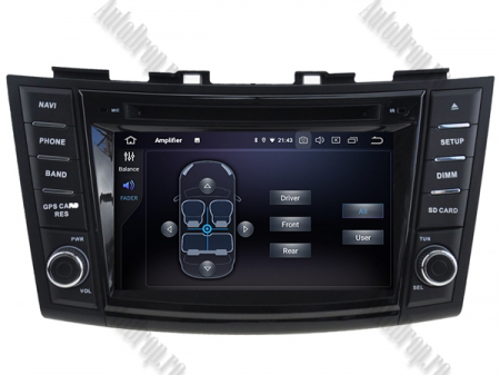 NAVIGATIE Suzuki Swift 2011+, ANDROID 9, Octacore|PX5|/ 4GB RAM + 64GB ROM cu DVD, 7 Inch - AD-BGWSW1115P57
