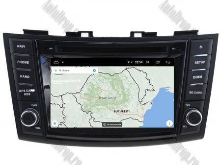 NAVIGATIE Suzuki Swift 2011+, ANDROID 9, Quadcore|PX30|/ 2GB RAM + 16GB ROM cu DVD, 7 Inch - AD-BGWSW1115P312