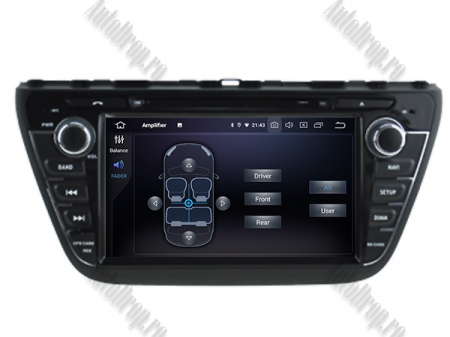 NAVIGATIE Suzuki S-Cross 2014+, ANDROID 9, Quadcore|PX30|/ 2GB RAM + 16GB ROM cu DVD, 7 Inch - AD-BGWCRS14P57