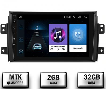 Navigatie Suzuki SX4 / Fiat Sedici, Android 9.1, QUADCORE|MTK| / 2GB RAM + 32 ROM, 9 Inch - AD-BGPSX49MTK2GB0