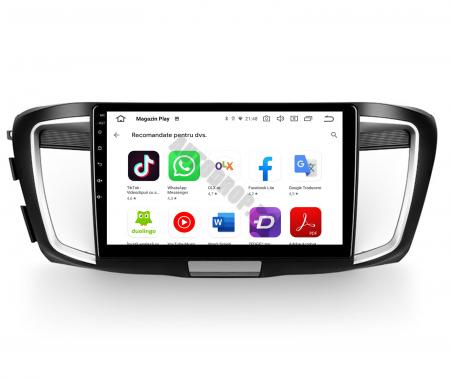 Navigatie Honda Accord 9 (2013-2017), Android 9.1, QUADCORE|MTK| / 1GB RAM + 16GB ROM, 10.1 Inch - AD-BGPACCORD14MTK9