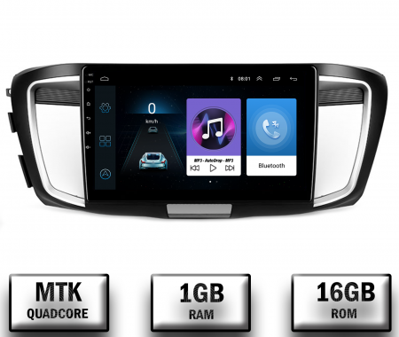 Navigatie Honda Accord 9 (2013-2017), Android 9.1, QUADCORE|MTK| / 1GB RAM + 16GB ROM, 10.1 Inch - AD-BGPACCORD14MTK0