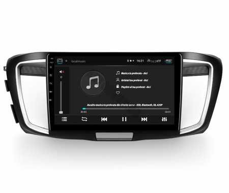 Navigatie Honda Accord 9 (2013-2017), Android 9.1, QUADCORE|MTK| / 1GB RAM + 16GB ROM, 10.1 Inch - AD-BGPACCORD14MTK4