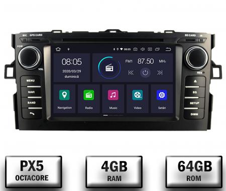 NAVIGATIE Toyota Auris (2007-2011), ANDROID 10, Octacore|PX5|/ 4GB RAM + 64GB ROM cu DVD, 7 Inch - AD-BGWAURIS1P50