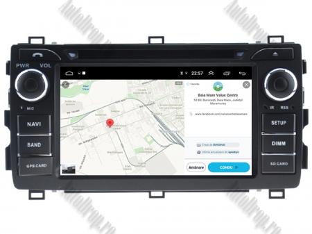 NAVIGATIE Toyota Auris 2013+, ANDROID 10, Quadcore|PX30|/ 2GB RAM + 16GB ROM cu DVD, 7 Inch - AD-BGWAURIS2P312