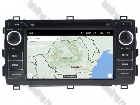 NAVIGATIE Toyota Auris 2013+, ANDROID 10, Quadcore|PX30|/ 2GB RAM + 16GB ROM cu DVD, 7 Inch - AD-BGWAURIS2P310