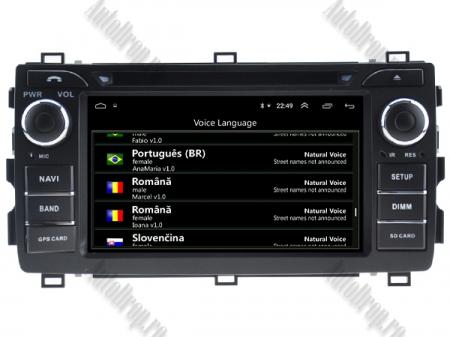 NAVIGATIE Toyota Auris 2013+, ANDROID 10, Quadcore|PX30|/ 2GB RAM + 16GB ROM cu DVD, 7 Inch - AD-BGWAURIS2P36