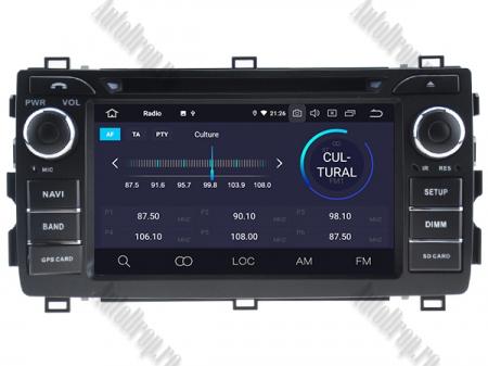 NAVIGATIE Toyota Auris 2013+, ANDROID 10, Quadcore|PX30|/ 2GB RAM + 16GB ROM cu DVD, 7 Inch - AD-BGWAURIS2P33