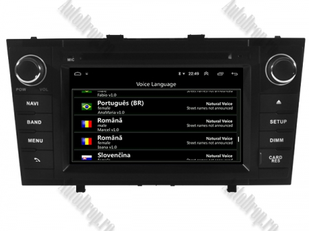 NAVIGATIE TOYOTA AVENSIS (2008-2013), ANDROID 10, Octacore|PX5|/ 4GB RAM + 64GB ROM cu DVD, 7 Inch - AD-BGWAVS2P5-B8