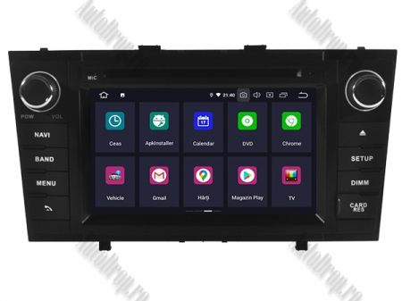 NAVIGATIE TOYOTA AVENSIS (2008-2013), ANDROID 10, Octacore|PX5|/ 4GB RAM + 64GB ROM cu DVD, 7 Inch - AD-BGWAVS2P5-B2