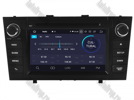 NAVIGATIE TOYOTA AVENSIS (2008-2013), ANDROID 10, Octacore|PX5|/ 4GB RAM + 64GB ROM cu DVD, 7 Inch - AD-BGWAVS2P5-B3