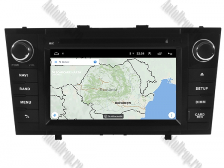 NAVIGATIE TOYOTA AVENSIS (2008-2013), ANDROID 10, Octacore|PX5|/ 4GB RAM + 64GB ROM cu DVD, 7 Inch - AD-BGWAVS2P5-B14