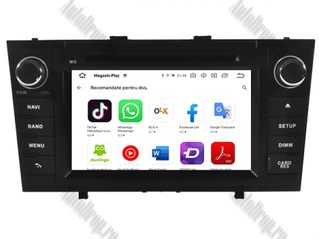 NAVIGATIE TOYOTA AVENSIS (2008-2013), ANDROID 10, Octacore|PX5|/ 4GB RAM + 64GB ROM cu DVD, 7 Inch - AD-BGWAVS2P5-B9