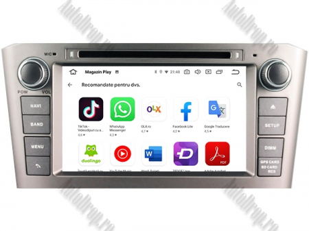 NAVIGATIE TOYOTA AVENSIS (2005-2008), ANDROID 10, Octacore|PX5|/ 4GB RAM + 64GB ROM cu DVD, 7 Inch - AD-BGWAVS1P5-S9