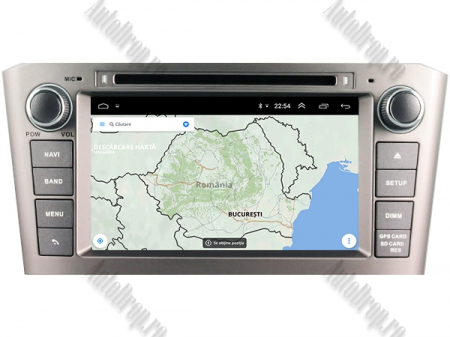NAVIGATIE TOYOTA AVENSIS (2005-2008), ANDROID 10, Octacore|PX5|/ 4GB RAM + 64GB ROM cu DVD, 7 Inch - AD-BGWAVS1P5-S12