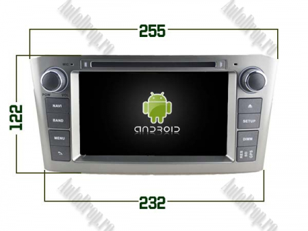 NAVIGATIE TOYOTA AVENSIS (2005-2008), ANDROID 10, Octacore|PX5|/ 4GB RAM + 64GB ROM cu DVD, 7 Inch - AD-BGWAVS1P5-S17