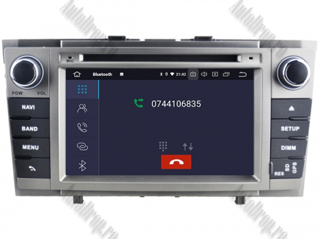 NAVIGATIE TOYOTA AVENSIS (2008-2013), ANDROID 9, Octacore|PX5|/ 4GB RAM + 64GB ROM cu DVD, 7 Inch - AD-BGWAVS2P5-S7