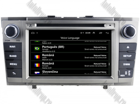 NAVIGATIE TOYOTA AVENSIS (2008-2013), ANDROID 9, Octacore|PX5|/ 4GB RAM + 64GB ROM cu DVD, 7 Inch - AD-BGWAVS2P5-S6