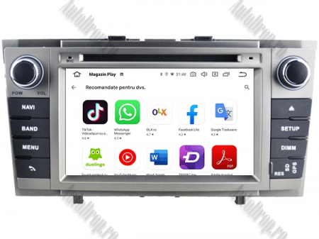 NAVIGATIE TOYOTA AVENSIS (2008-2013), ANDROID 9, Octacore|PX5|/ 4GB RAM + 64GB ROM cu DVD, 7 Inch - AD-BGWAVS2P5-S9