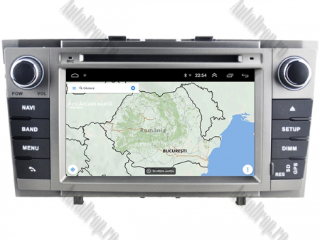 NAVIGATIE TOYOTA AVENSIS (2008-2013), ANDROID 9, Octacore|PX5|/ 4GB RAM + 64GB ROM cu DVD, 7 Inch - AD-BGWAVS2P5-S13