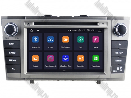 NAVIGATIE TOYOTA AVENSIS (2008-2013), ANDROID 9, Octacore|PX5|/ 4GB RAM + 64GB ROM cu DVD, 7 Inch - AD-BGWAVS2P5-S1