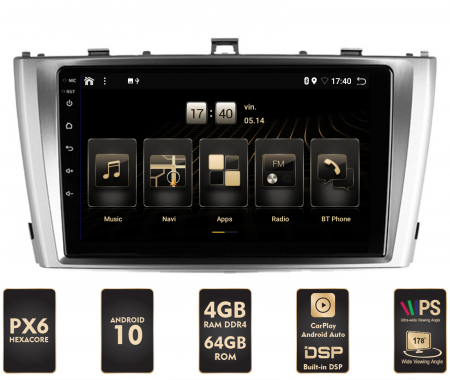 Navigatie Android 10 Toyota Avensis PX6 | AutoDrop.ro [0]
