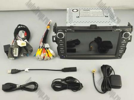NAVIGATIE TOYOTA Corolla (2007-2011), ANDROID 9, Quadcore|PX30|/ 2GB RAM + 16GB ROM cu DVD, 7 Inch - AD-BGWCOROLLA2P316