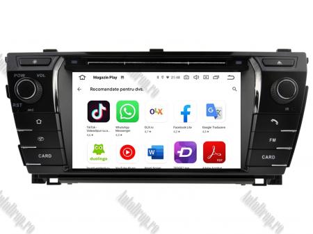 NAVIGATIE TOYOTA Corolla 2014, ANDROID 9, Quadcore|PX30|/ 2GB RAM + 16GB ROM cu DVD, 7 Inch - AD-BGWCOROLLA3P38